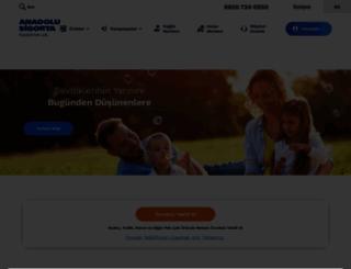 anadolusigorta.com.tr screenshot