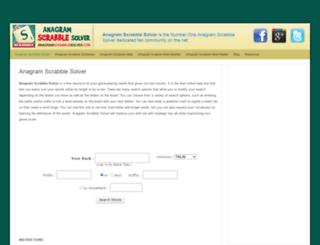 anagramscrabblesolver.com screenshot
