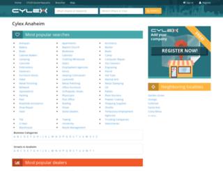 anaheim.cylex-usa.com screenshot