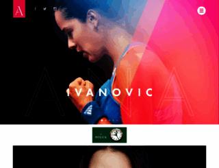 anaivanovic.com screenshot