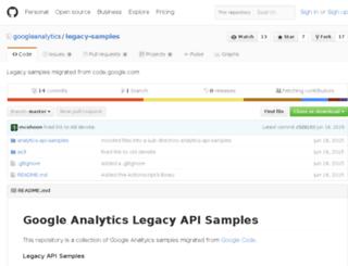 analytics-api-samples.googlecode.com screenshot