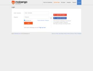 analytics.mobango.com screenshot