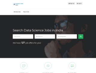 analyticsindiajobs.com screenshot
