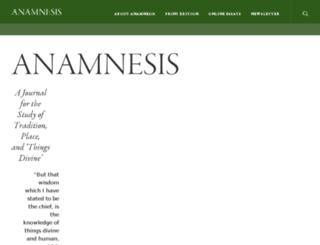 anamnesisjournal.com screenshot