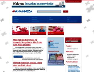 anamneza.cz screenshot