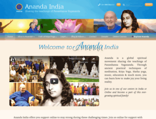 anandaindia.org screenshot