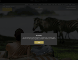 anantara.ae screenshot