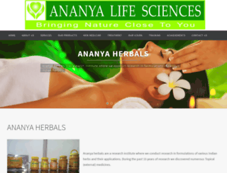 ananyaherbals.com screenshot