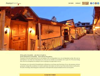 ananyahotels.com screenshot
