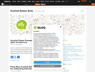 anarkalisalwarsuits.myblog.it screenshot