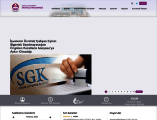 anayasa.gov.tr screenshot