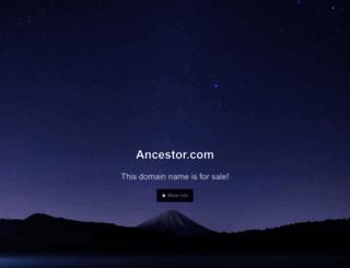 ancestor.com screenshot