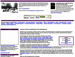 ancestorsatrest.com screenshot