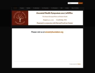 ancestralhealthsymposium2012.weebly.com screenshot