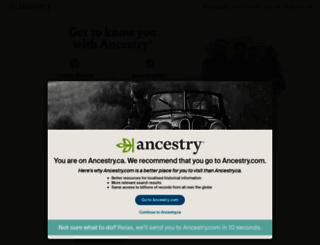 ancestry.ca screenshot