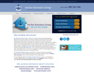 anchorinsurancegroup.net screenshot