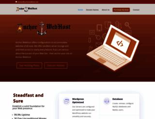 anchorwebhost.com screenshot