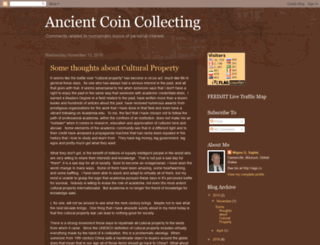 ancientcoincollecting.blogspot.com screenshot