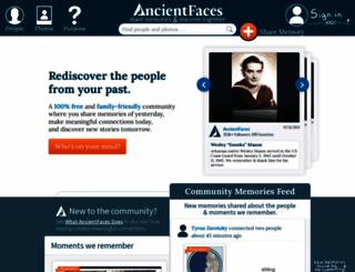 ancientfaces.com screenshot
