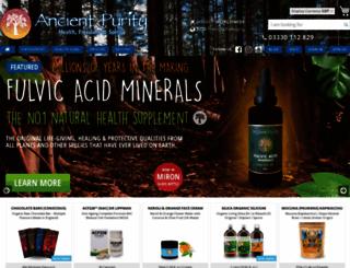 ancientpurity.com screenshot