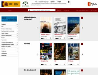 andalucia.ebiblio.es screenshot