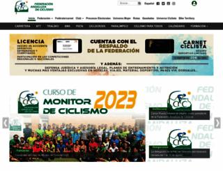 andaluciaciclismo.com screenshot