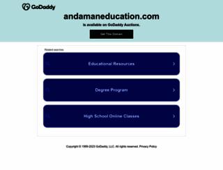 andamaneducation.com screenshot