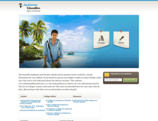 andamaneducation.net screenshot