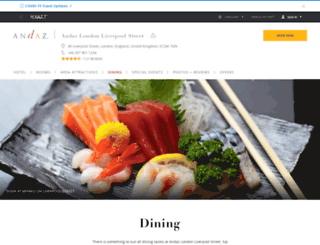 andazdining.com screenshot