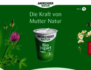 andechser-natur.de screenshot