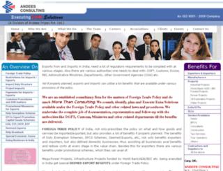 andeesconsulting.com screenshot