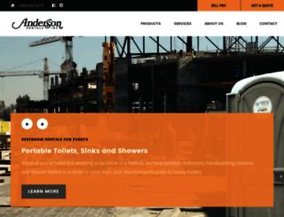 anderson-rentals.com screenshot