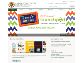 andersonlibrary.org screenshot