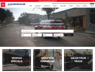 andersontoyota.com screenshot