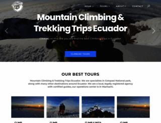 andesclimbing.com screenshot