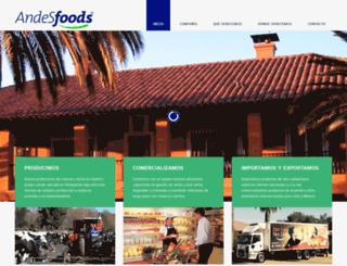 andesfoods.com screenshot