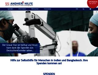 andheri-hilfe.de screenshot