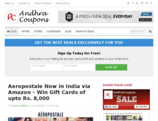 andhracoupons.com screenshot