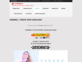 andrea.catalogosunidos.com screenshot