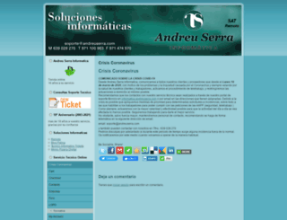 andreuserra.com screenshot