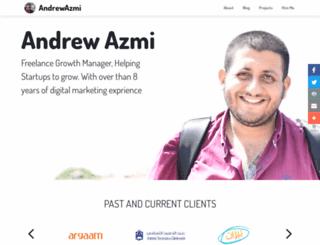 andrewazmi.com screenshot