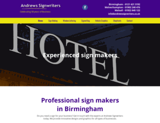 andrewssignwriters.co.uk screenshot
