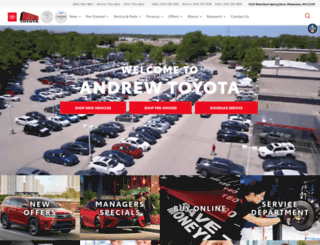 andrewtoyota.com screenshot