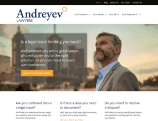 andreyev.com.au screenshot