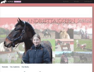andriettajosefin.horseworld.se screenshot