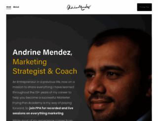 andrinemendez.com screenshot