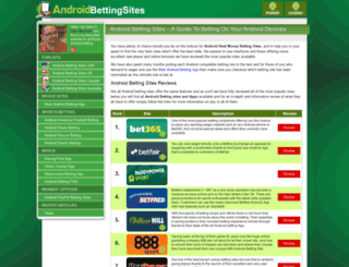 androidbettingsites.net screenshot