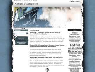 androiddevelopment.webnode.com screenshot