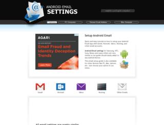 androidemailsettings.com screenshot