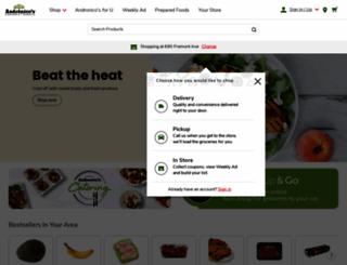 andronicos.com screenshot